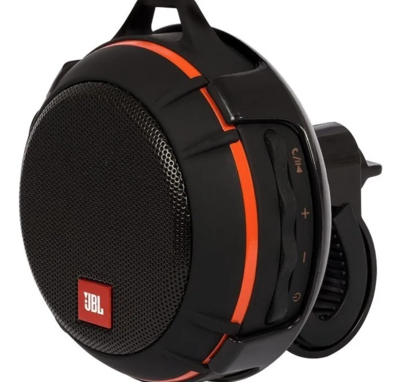 Parlante Jbl Wind Bike Mount Bluetooth Negro Con Naranja