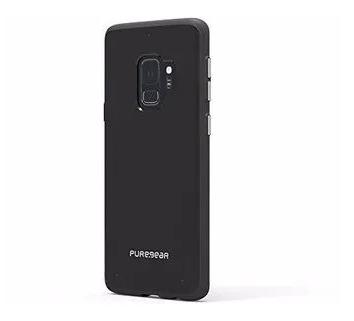 Case Puregear Slim Shell Samsung Galaxy S9, Color Transparente/Negro