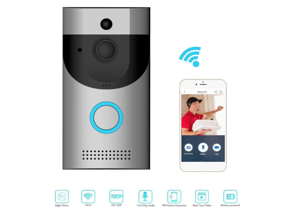 Video Doorbell, 3H Latest Upgrade Wi-Fi Doorbell