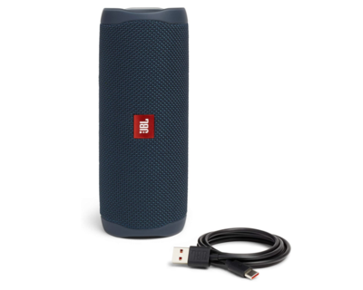 JBL FLIP 5 - Altavoz Bluetooth portátil impermeable, Color Azul