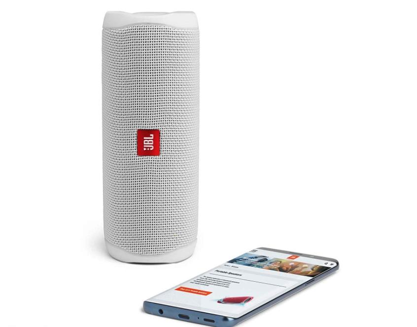 JBL FLIP 5 - Altavoz Bluetooth portátil impermeable, Color Blanco