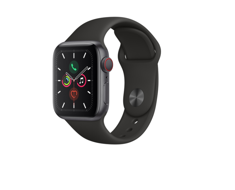Apple Watch Series 5  44 mm Caja de Aluminio Gris  Negra