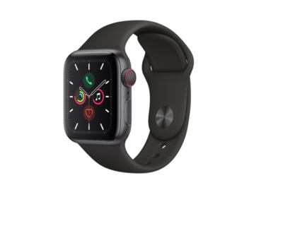 Apple Watch Series 5  40 mm Caja de Aluminio Gris  Negra