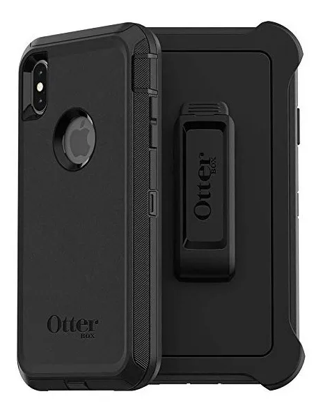Estuche iPhone XS Max Antigolpe Otterbox Defender, Color Negro