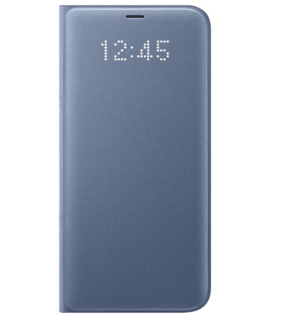 Funda Sintética Estilo Cartera Para Samsung Galaxy S8 + Pantalla Led, Gris