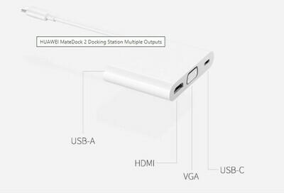 Huawei Matedock 2, Adaptador HDMI/VGI/USB-C,