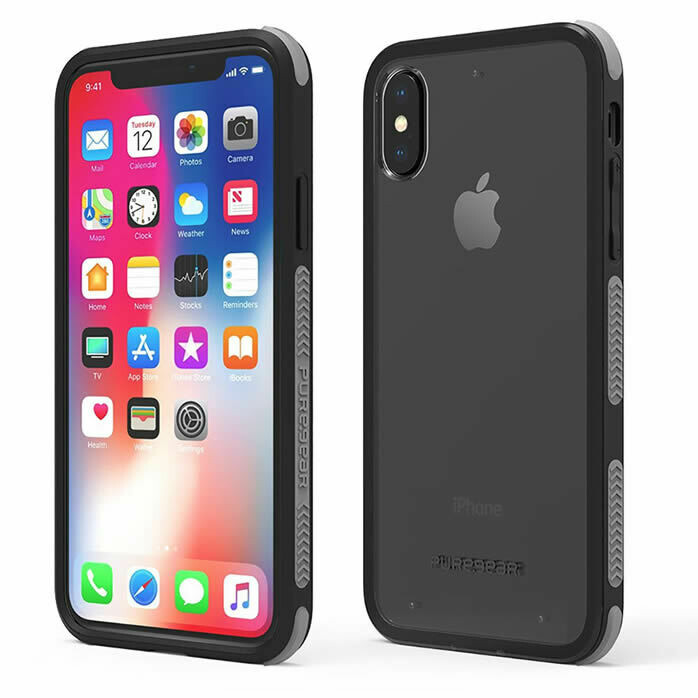 Puregear iPhone Xs/X DualTek Clear Case - Clear/Black