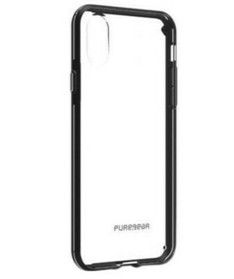 PureGear Slim Shell Case for iPhone X, Color: Clear/Black