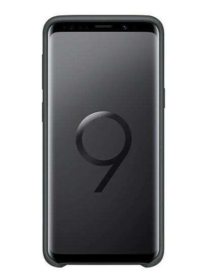 Samsung Silicone Cover, Galaxy S9, Color Negro