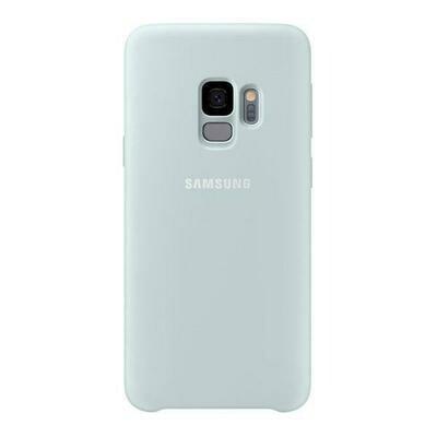 Samsung Silicone Cover, Galaxy S9, Color Verde azulado