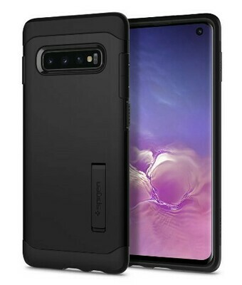 Case Spigen Slim Armor Galaxy S10, Color Negro