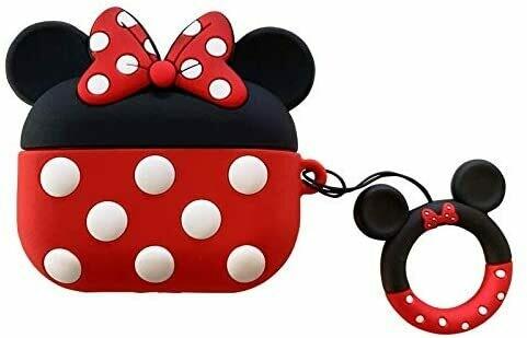 Funda de silicona suave para Apple Airpods, Minnie Mouse