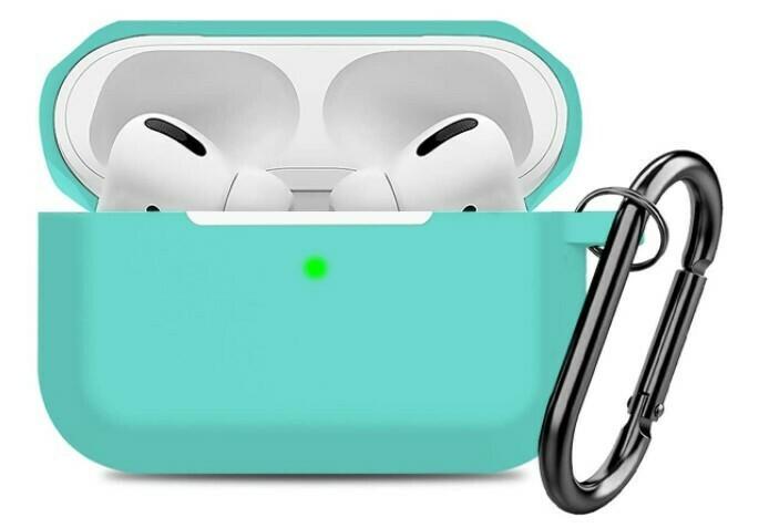Funda de silicona para AirPods Pro para Apple, Color Turquesa