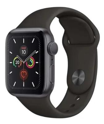 Apple Watch Serie 5, 44mm, Aluminio Gris Espacial Con Banda Deportiva Negra