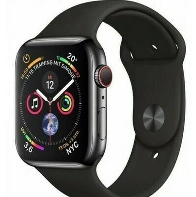 Smartwatch T55, Estilo Apple Watch, Color Negro y Negro/Azul