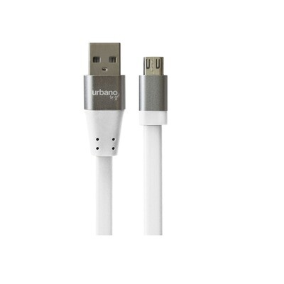 Cable Micro USB Urbano To go, Color Blanco