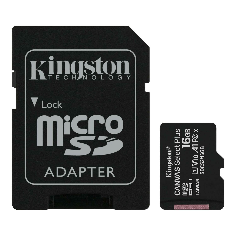 Memoria Kingston MicroSD Canvas Select, 16GB