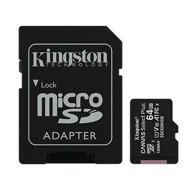 Memoria Kingston MicroSD Canvas Select, 64GB