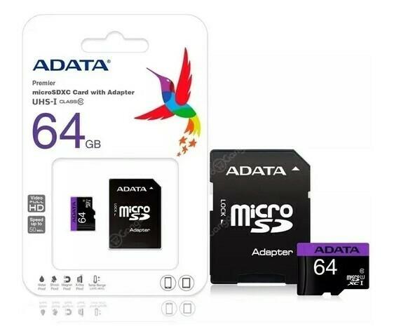 Memoria MicroSD Adata 64gb Con Adaptador