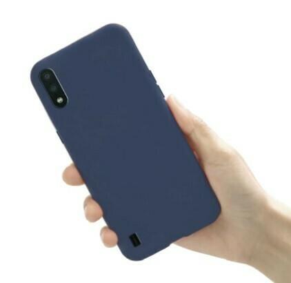 Case de Silicona Samsung Galaxy A01 - Color Azul