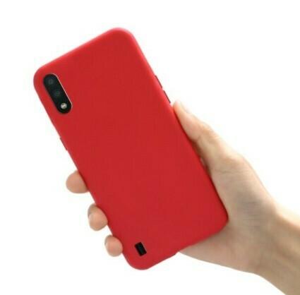 Funda de Silicona Samsung Galaxy A01 - Color Rojo