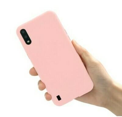 Funda de Silicona Samsung Galaxy A01 - Color Rosado Claro