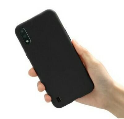 Funda de Silicona Samsung Galaxy A01 - Color Negro