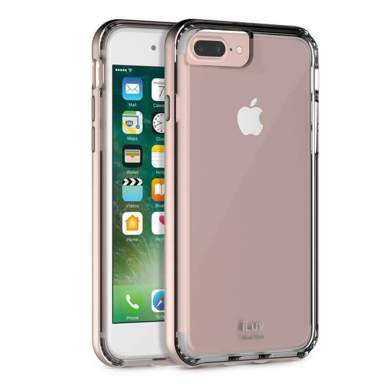 Case iLuv Forja de metal Para iPhone 7, Color Rosado