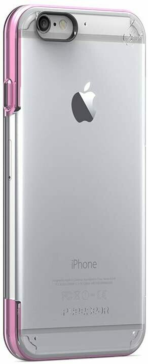Case Puregear Slim - Shell Pro para iPhone 6 Plus, Transparente/Rosado