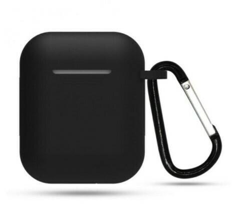 Protector de silicona blanda para Apple AirPods 1 y 2, Color Negro