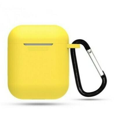 Protector de silicona blanda para Apple AirPods 1 y 2, Color Amarillo