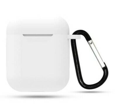 Protector de silicona blanda para Apple AirPods 1 y 2, Color Blanco