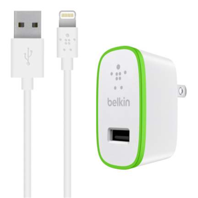 Cargador de pared Belkin USB-A de 12 W + cable Lightning a USB-A