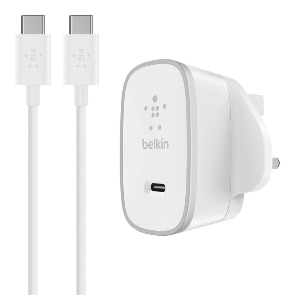 Cargador Belkin doméstico USB-C + cable USB-C a USB-C (USB Type-C ™)
