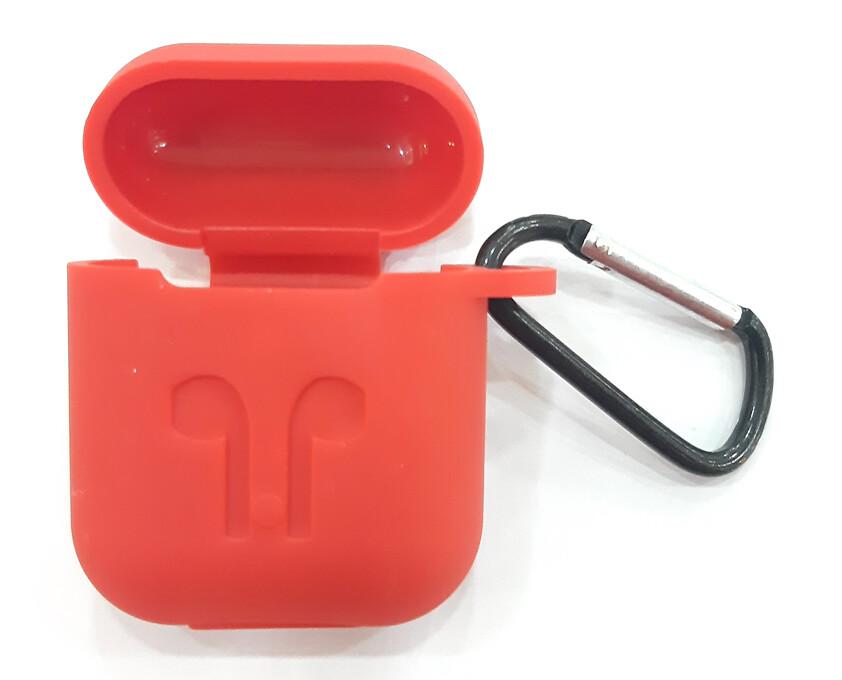 Protector de silicona blanda para Apple AirPods 1 y 2, Color Rojo