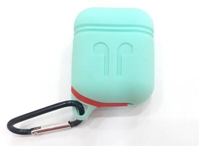 Protector de silicona blanda para Apple AirPods 1 y 2, Color Verde Menta