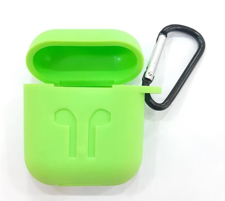 Protector de silicona blanda para Apple AirPods 1 y 2, Color Verde Fosforescente