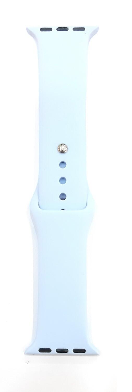 Banda deportiva silicona de 38/40 mm, Azul Pálido