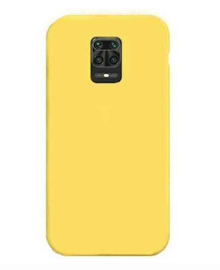 Funda de Silicona Redmi Note9S/ Pro Max  - Color Amarillo