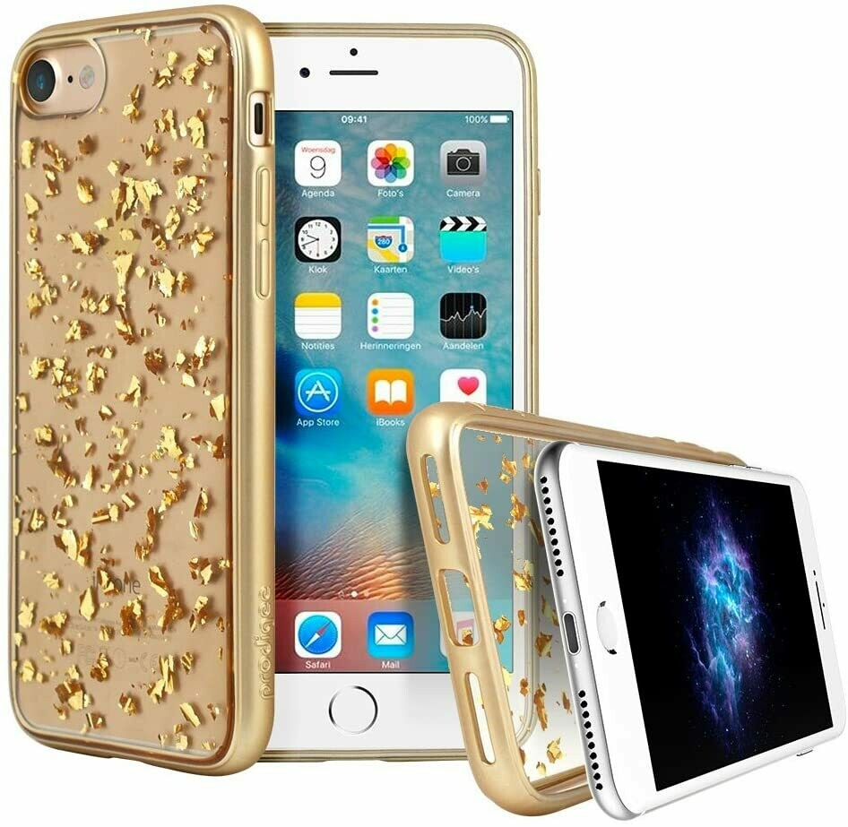 Case Prodigee iPhone 7, Color Transparente Oro
