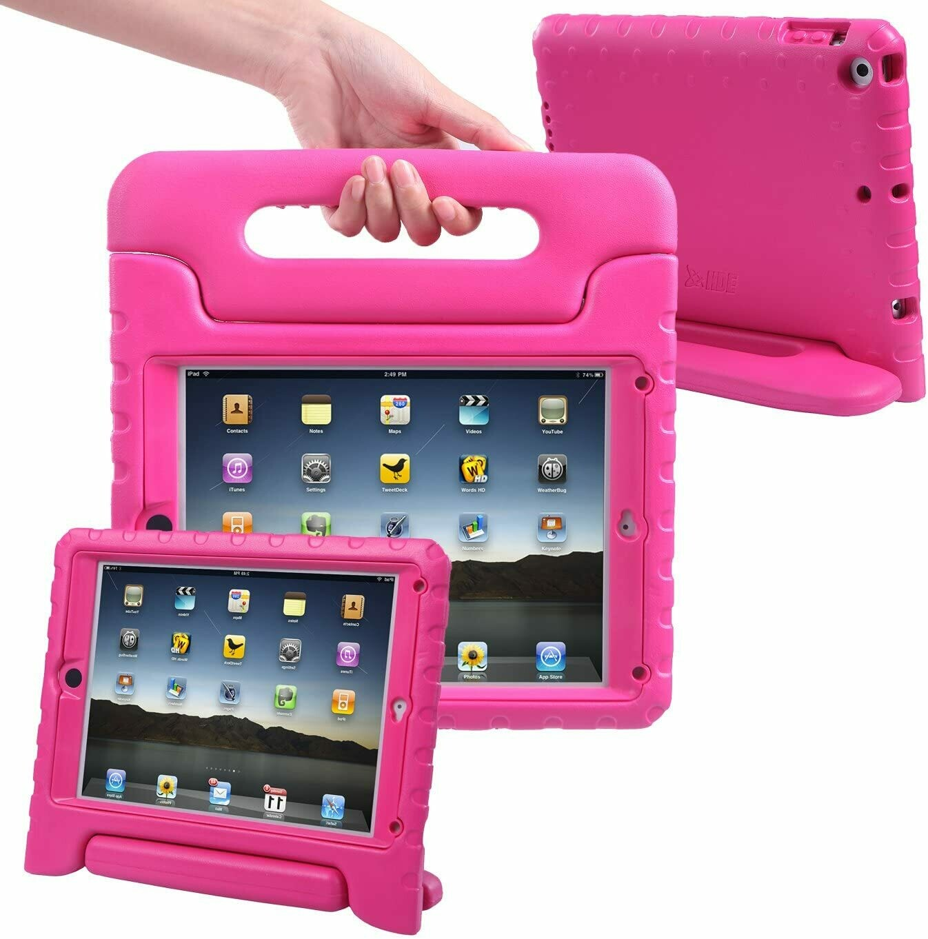 Funda para iPad Air 1 y 2, Color Rosado