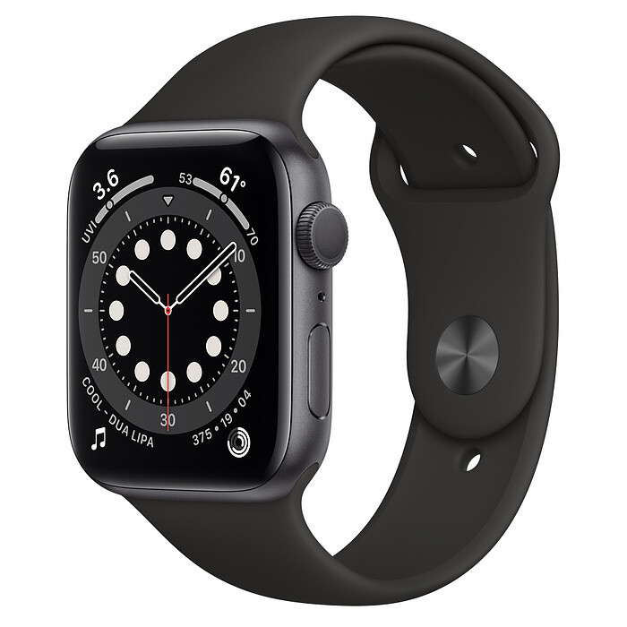 Apple Watch Series 6 - 44mm, Color Negro