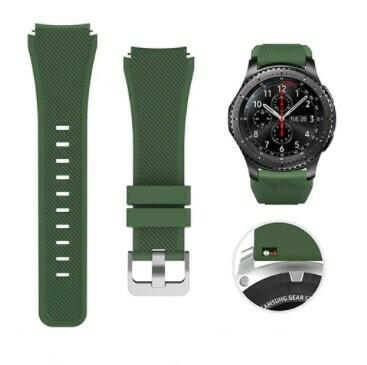 Pulso Smart silicona Samsung Watch S3 / 46mm - Verde