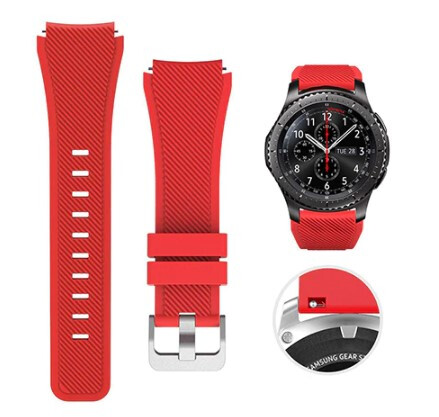 Pulso Smart silicona Samsung Watch S3 / 46mm - Rojo