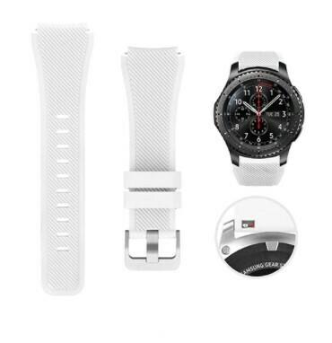 Pulso Smart silicona Samsung Watch S3 / 46mm - Blanco
