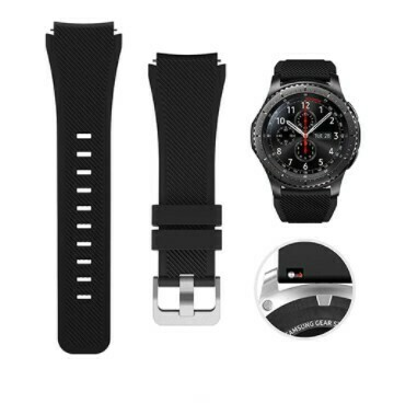 Pulso Smart silicona Samsung Watch S3 / 46mm - Negro