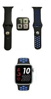 Smartwatch Boots Air T55, Estilo Apple Watch, Color Negro y Negro/Blanco