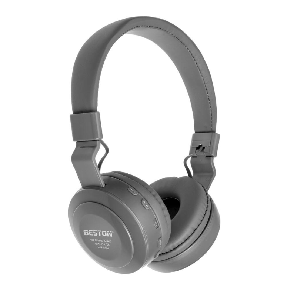 Audífonos Inalámbricos Super Bass Beston BST-10, Color Gris