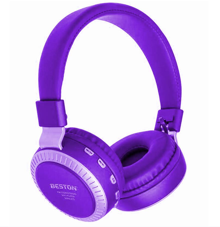Audífonos Inalámbricos Beston BST-20, Color Morado