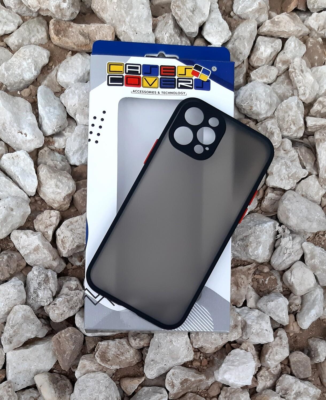 Case  para IPhone12 / Pro, Color Mate Transparente/ Borde Negro